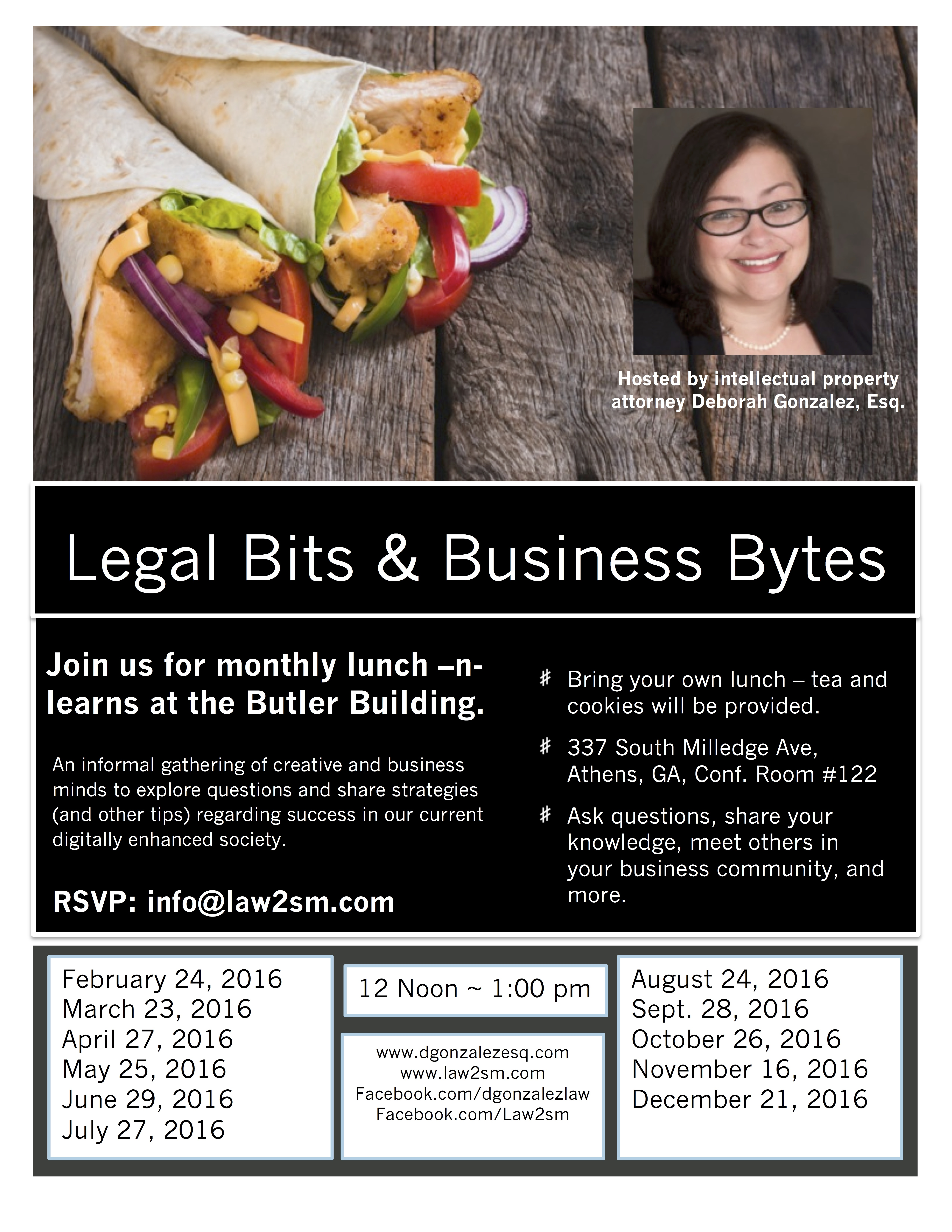 Legal Bits & Business Bytes Monthly Lunch-n-Learns – D Gonzalez Law