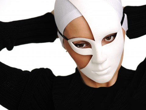 Photo of girl with white mask