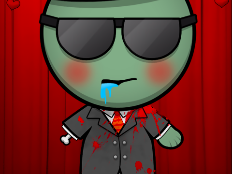 Character zombie in a suit